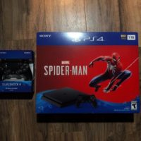 Sony PlayStation 4 Slim 1TB Spiderman Bundle PS4 Brand New